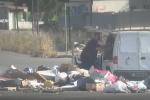 Rifiuti abbandonati ad Agrigento, le immagini delle telecamere