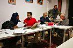 I protagonisti: Eseosa, Cicciò, Marchetti, Feminò e Renzo durante le prove