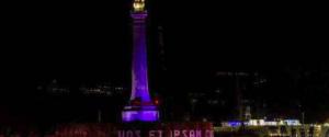 Cure e assistenza ai bambini prematuri: a Messina la stele della Madonnina illuminata di viola