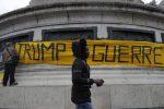 Centenario dell'armistizio della Grande Guerra, a Parigi corteo anti-Trump