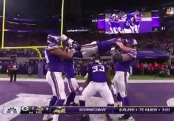 Durante l'ultima partita contro i Green Bay Packers, i Minnesota Vikings hanno messo in scena il