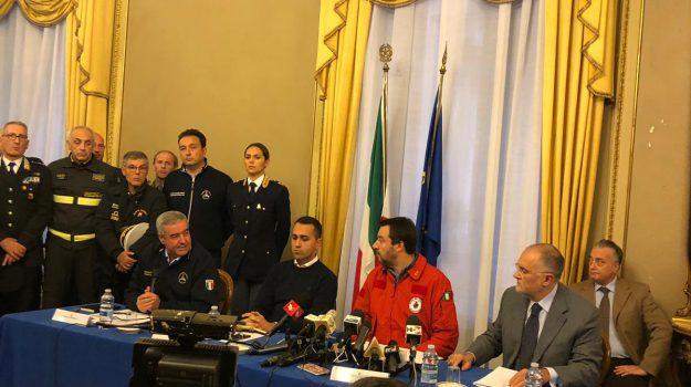 conferenza stampa catania salvini di maio, etna salvini di maio, Luigi Di Maio, Matteo Salvini, Sicilia, Cronaca