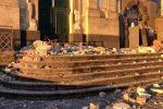 Crollo del prospetto della chiesa di Fleri