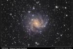 La galassia Fuochi d'artificio, NGC6946, distante 22 milioni di anni luce (fonte: riprese di Paolo Giangreco Marotta, elaborazione di Giuseppe Conzo / Gruppo Astrofili Palidoro)