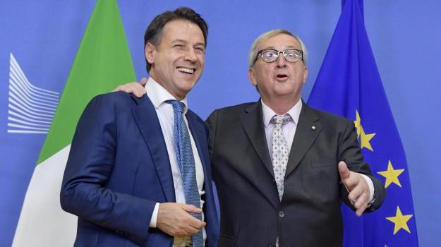 incontro conte juncker, manovra, Giuseppe Conte, Jean-Claude Juncker, Sicilia, Politica