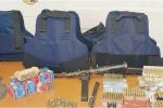 La mitragliatrice e le munizioni ritrovate