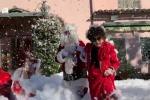 A Roma c'è il sole, ma a casa di Gina Lollobrigida nevica (ed arriva Babbo Natale)
