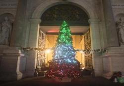 Accensione Albero di Natale a Porta Pia con i Bersaglieri