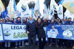Lega, in viaggio dalla Calabria per Salvini: partiti sei pullman - Le foto della trasferta