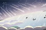 Una delle immagini dal doodle animato che Google ha dedicato alle Geminidi (fonte: Google)