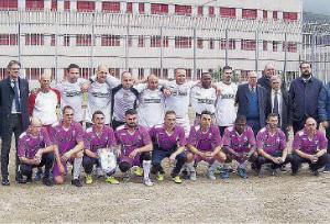 La squadra del carcere di Paola