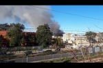 Huge fire breaks out at Rome rubbish facility