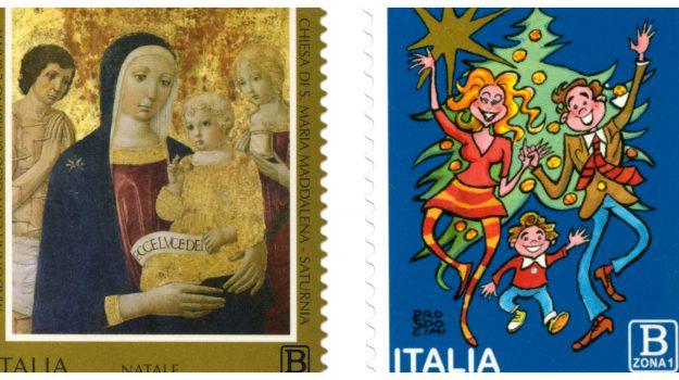 francobolli natale, Sicilia, Società