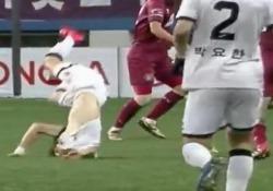 L'incidente in una partita del campionato sudcoreano