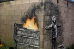 La nuova opera di Banksy è una cartolina di Natale