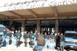 Nuova protesta degli ex Lsu-Lpu a Lamezia, stazione centrale blindata: le immagini