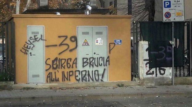 scritte choc contro scirea, Sicilia, Cronaca