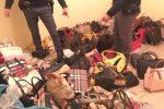 Corigliano, sequestrati 200 chili di borse contraffatte