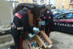 Il sequestro dei fuochi da parte dei Carabinieri