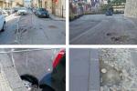 Cosenza, l'asfalto continua a sbriciolarsi: via 24 Maggio sotto osservazione