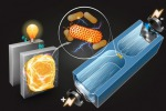 Raffigurazione del dispositivo, messo a punto al Mit, che permette di identificare i batteri produttori di elettricità. (fonte: Qianru Wang)