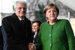 Work together for growth Merkel tells Mattarella