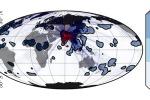 I nubifragi in Europa anticipano di 5 giorni quelli in India (in rosso); i monsoni indiani hanno riflessi in Africa, Europa e Nord America (in blu)(fonte: Boers et al. 2019)