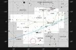 Mappa del cielo che indica la posizione della nebulosa planetaria ESO 577-24nella costellazione della Vergine (fonte: ESO, IAU and Sky & Telescope)