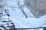 Neve sui Nebrodi, si lavora senza sosta per liberare le strade