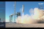 Il lancio del razzo New Shepard avvenuto il 23 gennaio 2019 dal Texas (fonte: Blue Origin)