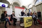 Il presidente nazionale di Libera don Luigi Ciotti durante la presentazione del Rapporto ''Liberaidee, la ricerca sulla percezione e la presenza di mafie e corruzione'' dello scorso ottobre