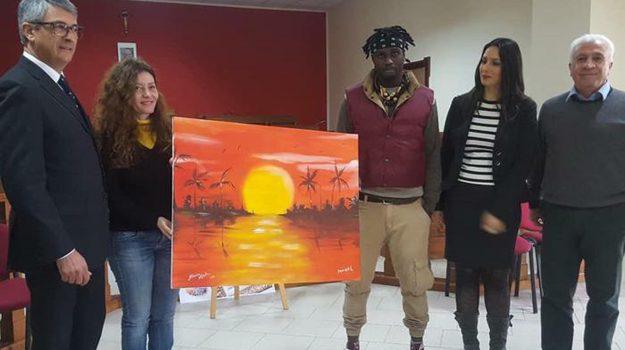 dipinto pittrice cutro migrante, Catanzaro, Calabria, Cultura