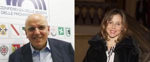 Il presidente della Regione Calabria Mario Oliverio e il ministro della Salute Giulia Grillo