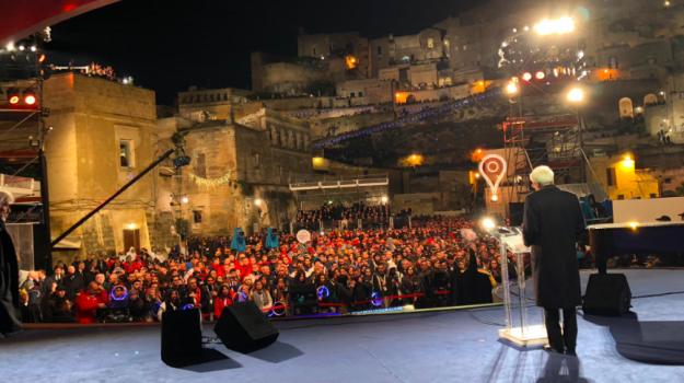 inaugurazione Matera Capitale, Mattarella Capitale della Cultura 2019, Mattarella Matera, Gigi Proietta, Sergio Mattarella, Sicilia, Cultura