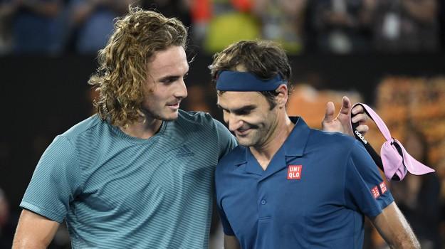 australian open, roger federer, Stefanos Tsitsipas, Roger Federer, Stefanos Tsitsipas, Sicilia, Sport
