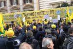 La protesta di Coldiretti davanti al Ministero dell'Agricoltura