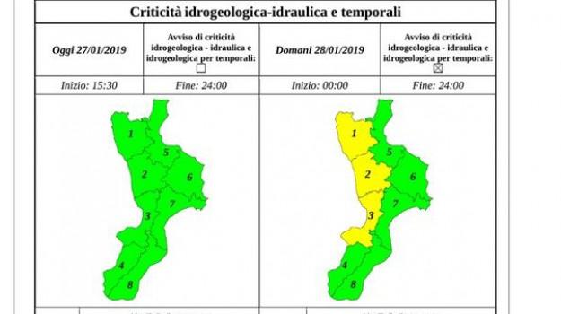 allerta gialla calabria, meteo calabria, previsioni meteo, Sicilia, Meteo