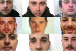 La droga smerciata nei B&B del Catanese, 9 arresti - Nomi e foto