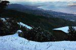 La neve caduta lungo la provinciale Dinnammare