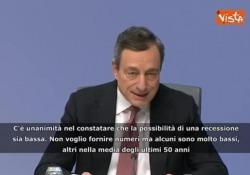 La conferenza stampa di Mario Draghi alla Banca Centrale Europea