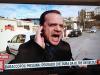 Il sindaco di Messina, Cateno De Luca, durante la trasmissione