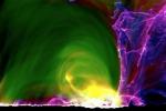 Simulazione di un'eruzione solare (fonte: Mark Cheung, Lockheed Martin, Matthias Rempel, NCAR)
