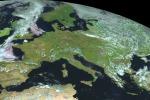 L'Europa vista dai satelliti (fonte: EUMETSAT)