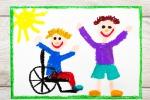Il disegno che rappresenta un bambino con handicap, a Pisa un servizio di tate specializzate