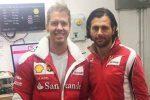 Simone Prestia e Sebastian Vettel