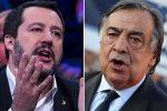 Matteo Salvini e Leoluca Orlando