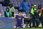 Federico Chiesa esulta dopo uno dei gol