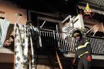 Corto circuito provoca un incendio in un'abitazione a Lamezia Terme