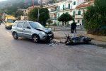 Incidente a Messina, scontro tra auto e scooter: due feriti