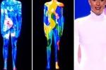 La carriera di Federica Pellegrini raccontata con una video proiezione sul suo corpo a Italia's Got Talent